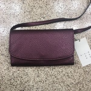 A New Day Wallet on a String  Boysenberry